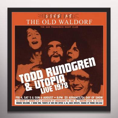 Todd Rundgren LIVE AT THE OLD WALDORF Vinyl Record - Gold Vinyl, Limited Edition