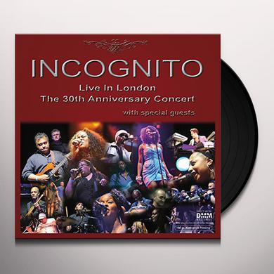 Incognito LIVE IN LONDON: 30TH ANNIVERSARY CONCERT Vinyl Record