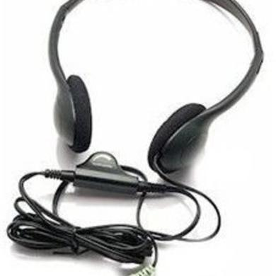 INLAND 87010 HEADPHONES LIGHTWEIGHT VOL CNTRL BLK
