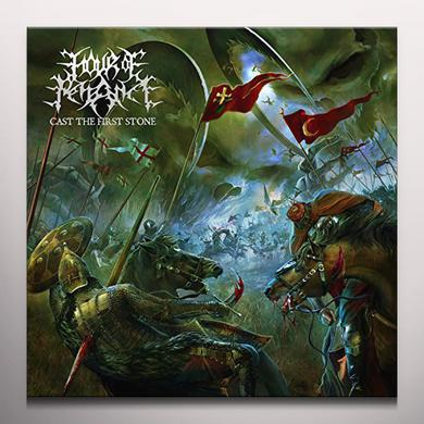 Hour Of Penance CAST THE FIRST STONE Vinyl Record - Green Vinyl