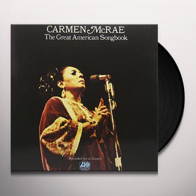 Carmen McRae GREAT AMERICAN SONGBOOK Vinyl Record