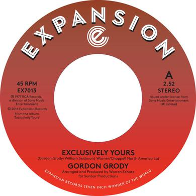 Gordon Grody EXCLUSIVELY YOURS / AFTER LOVING YOU Vinyl Record