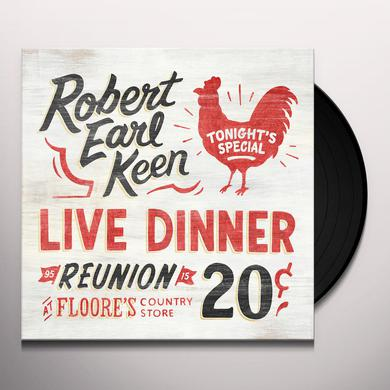 Robert Earl Keen LIVE DINNER REUNION Vinyl Record