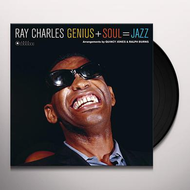 Ray Charles GENIUS + SOUL = JAZZ (PHOTO COVER JEAN-PIERRE) Vinyl Record