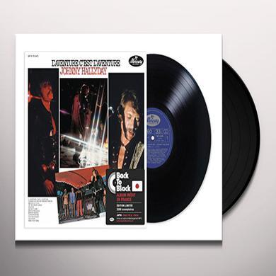 Johnny Hallyday L'AVENTURE C'EST L'AVENTURE Vinyl Record