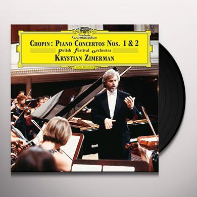 Chopin / Zimerman / Polish Festival Orchestra PIANO CONCERTOS NOS 1 & 2 Vinyl Record