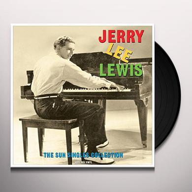 Jerry Lee Lewis SUN SINGLES (RED VINYL) Vinyl Record