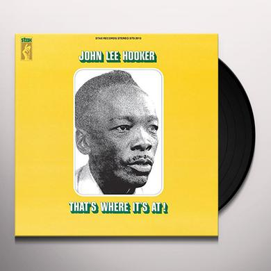John Lee Hooker THAT'S WHERE IT'S AT Vinyl Record