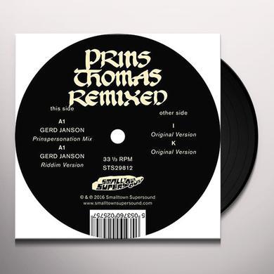 Prins Thomas GERD JANSON REMIXES Vinyl Record