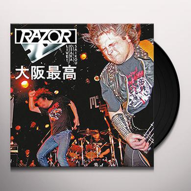 Razor OSAKA SAIKOU: LIVE IN JAPAN (BLOOD RED VINYL) Vinyl Record