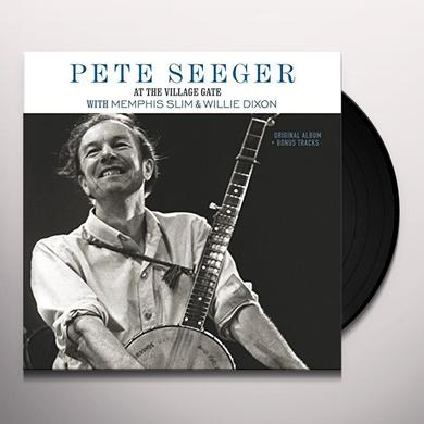 Pete Seeger AT THE VILLAGE GATE Vinyl Record