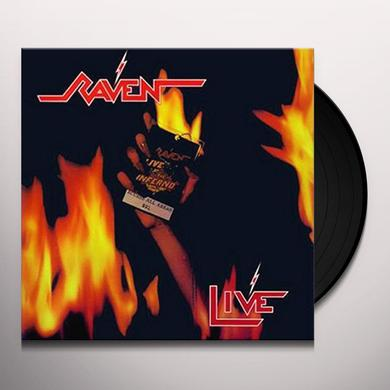 Raven LIVE AT THE INFERNO Vinyl Record