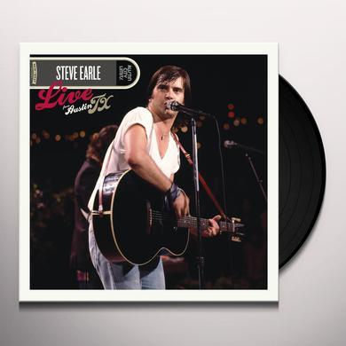Steve Earle LIVE FROM AUSTIN TX Vinyl Record