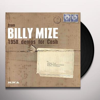 Billy Mize 1958 DEMOS FOR CASH Vinyl Record
