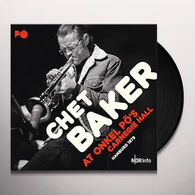 Chet Quartet Baker AT ONKEL PO'S CARNEGIE HALL HAMBURG 1979 Vinyl Record