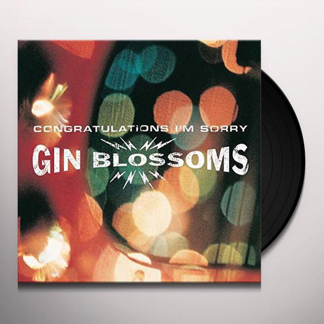 Gin Blossoms CONGRATULATIONS I'M SORRY Vinyl Record