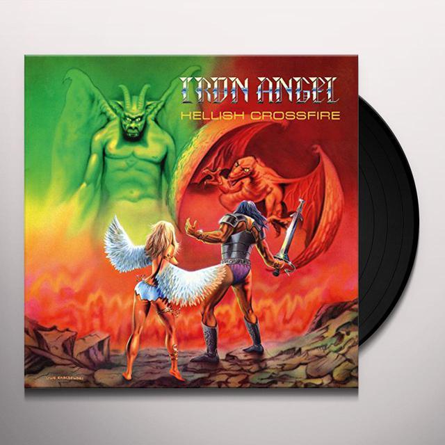 Iron Angel HELLISH CROSSFIRE (PISS YELLOW VINYL) Vinyl Record