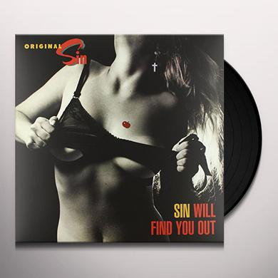 Original Sin SIN WILL FIND YOU OUT Vinyl Record