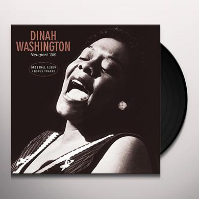 Dinah Washington AT NEWPORT 58 + BONUS TRACKS Vinyl Record