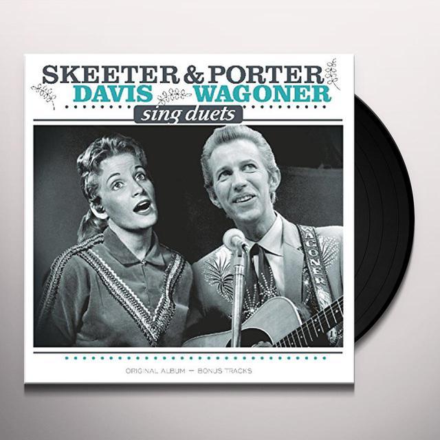 Skeeter Davis / Porter Wagoner SINGS DUETS + BONUS TRACKS Vinyl Record