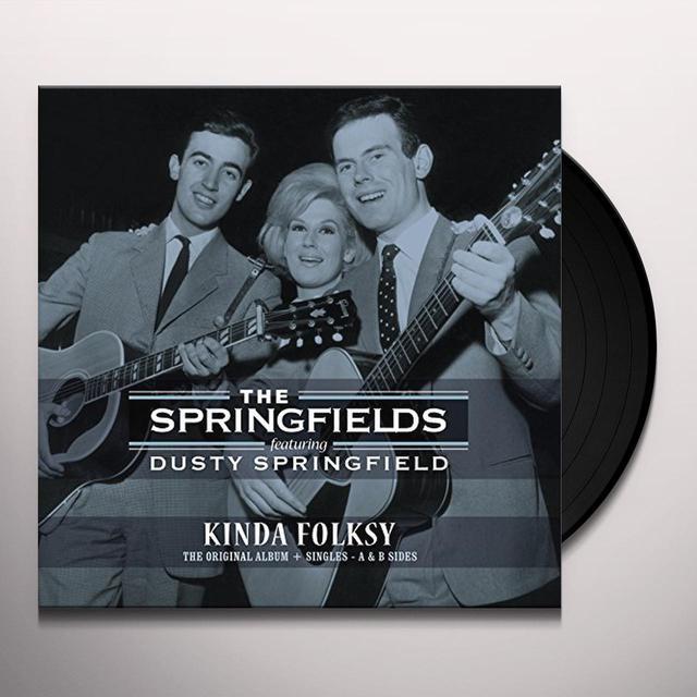 Springfields / Dusty Springfield KINDA FOLKSY + SINGLES A & B SIDES Vinyl Record