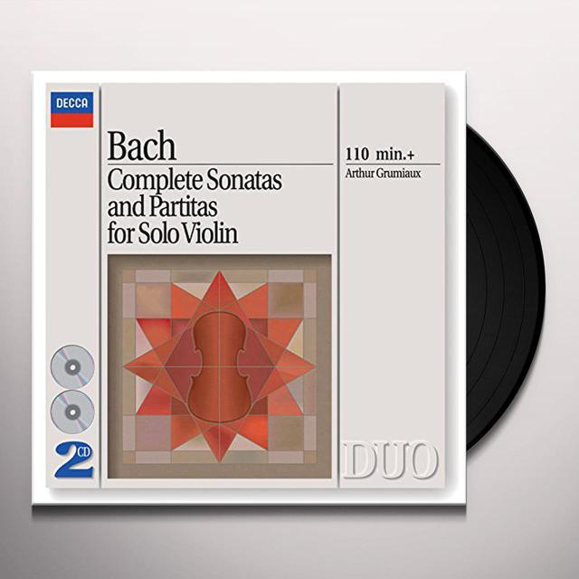 Johann Sebastian Bach / Arthur Grumiaux BACH: COMPLETE SONATAS & PARTITAS FOR SOLO VIOLIN Vinyl Record