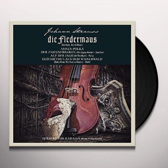 J Strauss / Herbert Von Karajan JOHANN STRAUSS: DIE FLEDERMAUS Vinyl Record