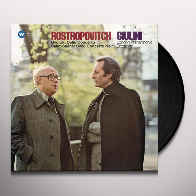 Dvorak / Rostropovich / Giulini / Lpo CELLO CONCERTO & SAINT-SAENS / CELLO CONCERTO NO 1 Vinyl Record