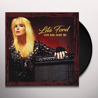 Lita Ford LIVE IN SAN JUAN 92 (YELLOW VINYL) Vinyl Record