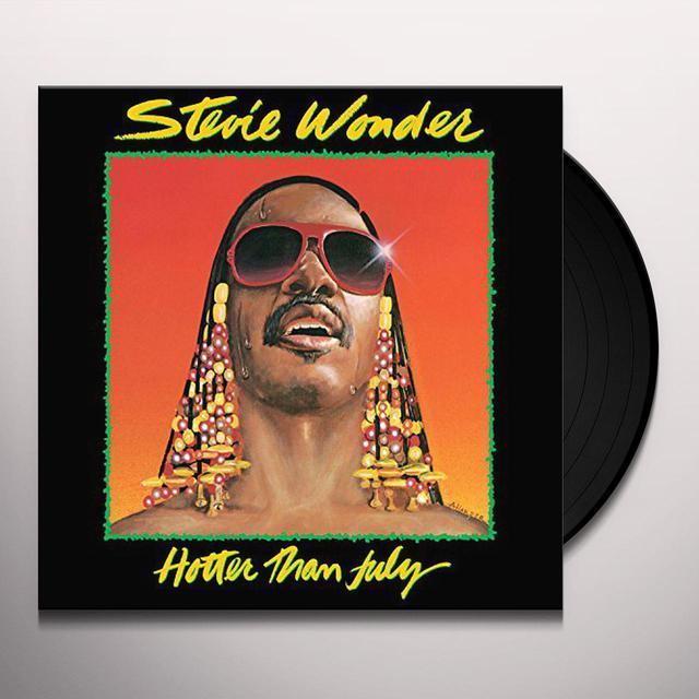 Stevie Wonder HOTTER THAN JULY Vinyl Record