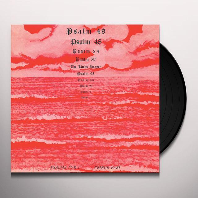 Prince Far I PSALMS FOR I Vinyl Record