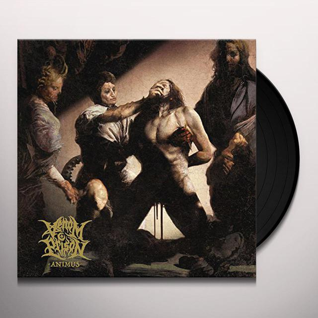 VENOM PRISON ANIMUS (LIMITED YELLOW/BLACK SPATTER VERSION) Vinyl Record