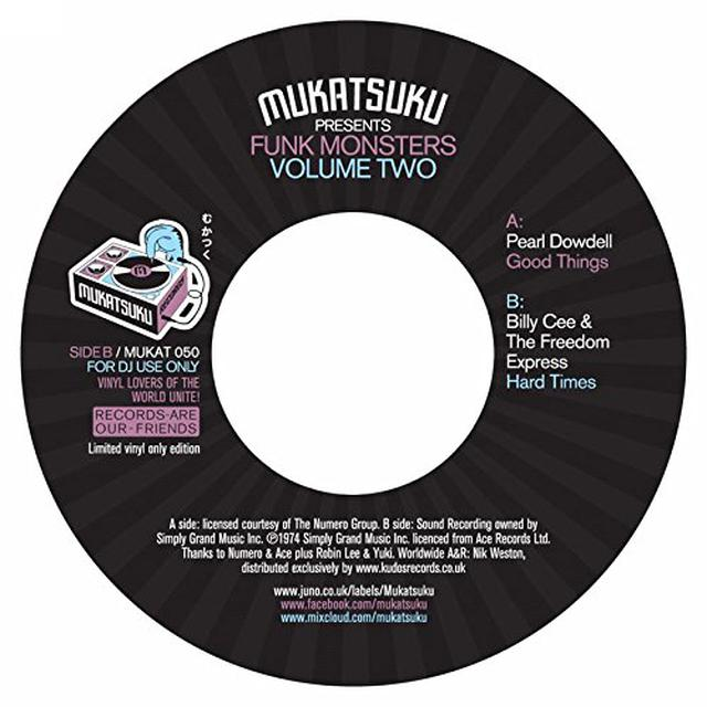 MUKATSUKU PRESENTS FUNK MONSTERS VOL 2 / VARIOUS Vinyl Record