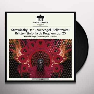 Britten / Stravinsky / Kempe / Dresden STRAVINSKY & BRITTEN: FIREBIRD SUITE Vinyl Record