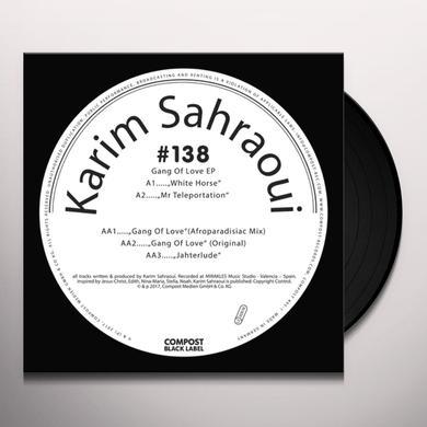 Karim Sahraoui GANG OF LOVE Vinyl Record