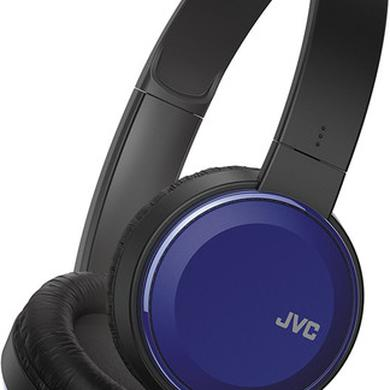 JVC HAS190MA ON EAR HEADPHONES MIC REMOTE BLUE