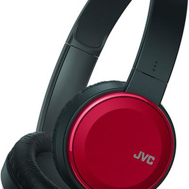 JVC HAS190MR ON EAR HEADPHONES MIC REMOTE RED