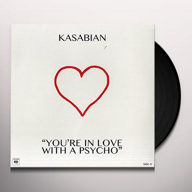 Kasabian YOU'RE IN LOVE WITH A PSYCHO Vinyl Record - 10 Inch Single, Italy Release