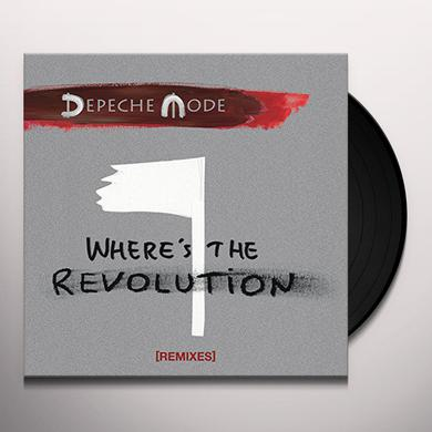 Depeche Mode WHERE'S THE REVOLUTION (REMIXES) Vinyl Record