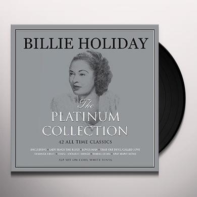 Billie Holiday PLATINUM COLLECTION (WHITE VINYL) Vinyl Record