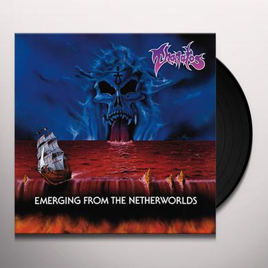 Thanatos EMERGING FROM THE NETHERWORLDS (BLUE VINYL) Vinyl Record