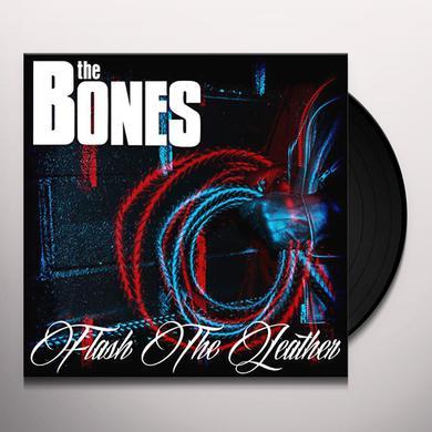 Bones FLASH THE LEATHER (BLUE VINYL) Vinyl Record