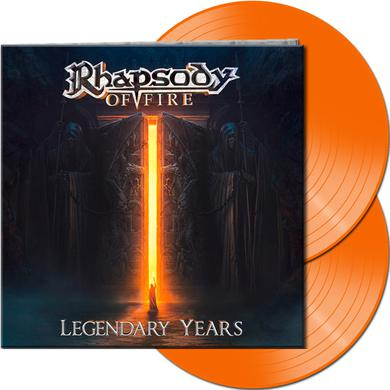 Rhapsody Of Fire LEGENDARY YEARS (ORANGE VINYL) Vinyl Record
