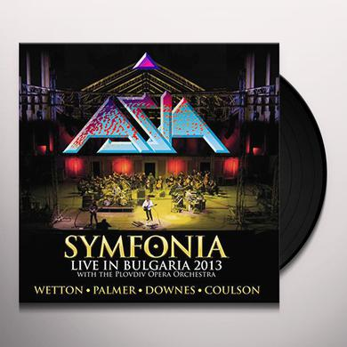 Asia SYMFONIA: LIVE IN BULGARIA (BLUE & YELLOW VINYL) Vinyl Record