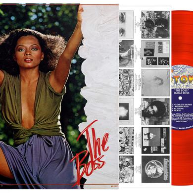 Diana Ross THE BOSS - BRIGHT RED VINYL, IMPORT 2017 Vinyl Record