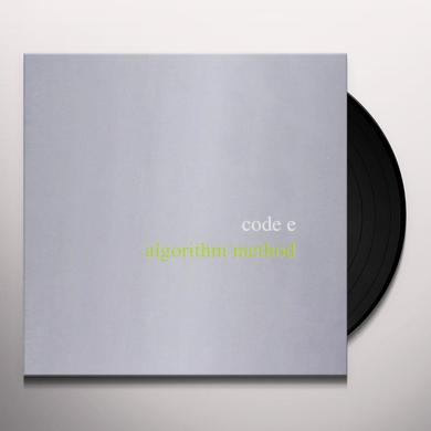 Code E ALGORITHM METHOD Vinyl Record