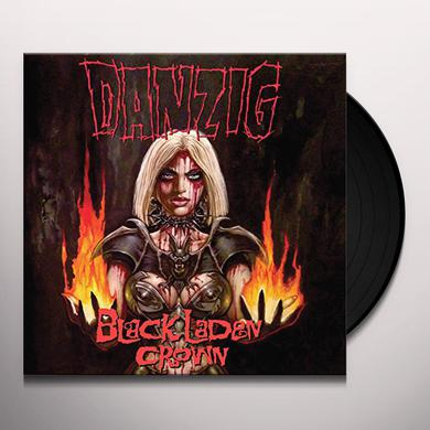 Danzig BLACK LADEN CROWN (RED SPLATTER VINYL) Vinyl Record