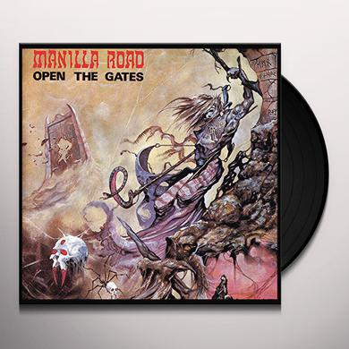 Manilla Road OPEN THE GATES (CLEAR VINYL) Vinyl Record