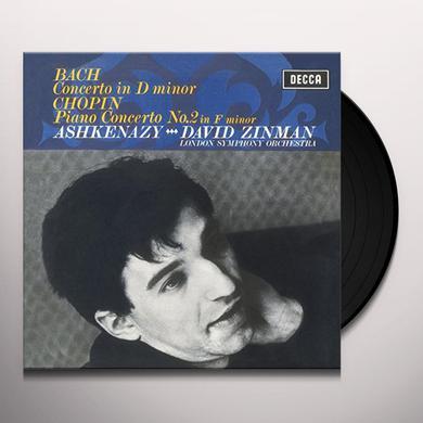 Chopin / Ashkenazy / London Symphony Orch / Zinman PIANO CONCERTO NO 2 - BACH: KEYBOARD CONCERTO IN D Vinyl Record