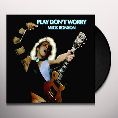 Mick Ronson PLAY DON'T WORRY (BLUE & WHITE SWIRL) Vinyl Record